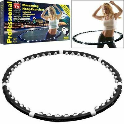 HULA HOOP PROFESSIONAL WEIGHTED MAGNETIC FITNESS EXERCISE