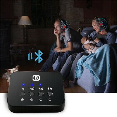 Wireless Bluetooth Audio Transmitter Splitter Receiver