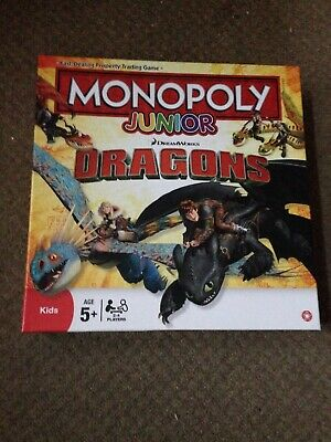 "MONOPOLY JUNIOR ""DRAGONS"" BOARD GAME"