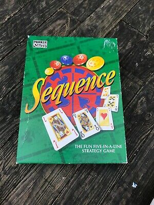 Sequence Board Game by Parker Vintage Card Poker Board Game