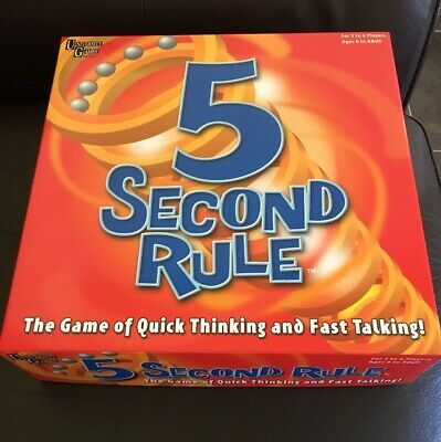 University Games 5 Second Rule Board Game - New