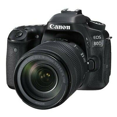 CANON EOS 80D DSLR Camera with EF-S  mm f/ IS