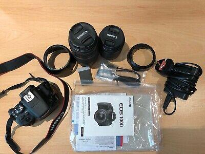 Canon EOS 100D 18M Digital SLR Camera Black with EFS mm