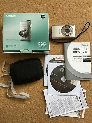 Canon IXUS 115 HS 12.1MP Digital Camera - Silver