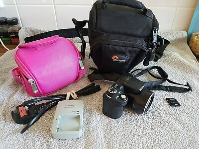 Canon PowerShot SX510 HS 12.1MP Digital Camera - Black plus