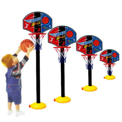 Kids Sports Portable Basketball Toy Set with Stand Ball &