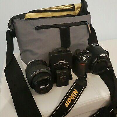 Nikon D DMP Digital SLR Camera - Black (Kit w/ VR