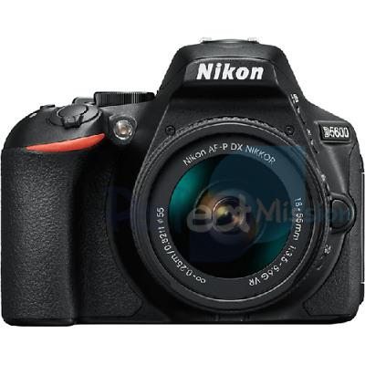 Nikon D DSRL Camera Kit w/ AF-P mm VR lens NEW
