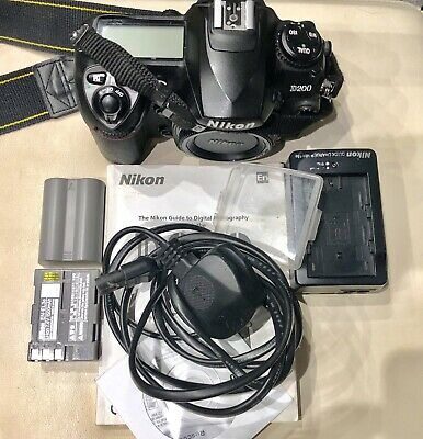Nikon D200 SLR Digital Camera Body Only - Black, Charger, 2