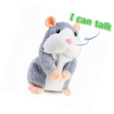 IDEAPRO Talking Hamster Toy, Repeats What You Say Plush