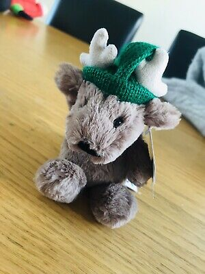 New Jellycat London Bashful Reindeer Soft Plush Toy Poppet
