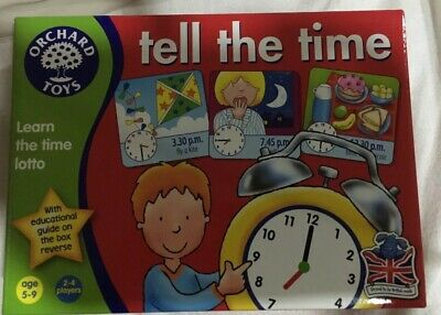 Orchard Toys Tell the Time Game.