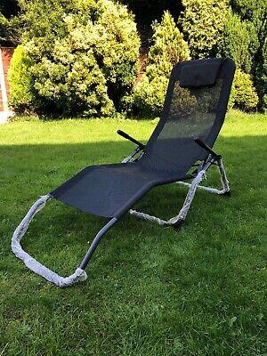 BRAND NEW Folding Sun lounger with Swing Frame Textilene