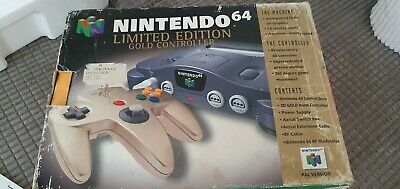 Nintendo 64 Limited edition gold controller With Box fully