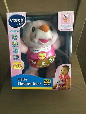 Pink VTech Baby Little Singing Bear toy 3-18 months BRAND
