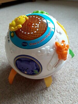 VTECH CRAWL AND LEARN BRIGHT LIGHTS BALL HARDLY USED CLEAN