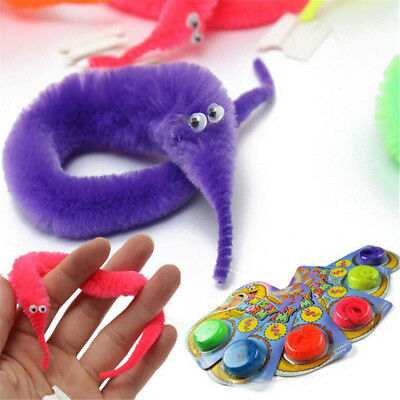 1PC Amazing Magic Trick Twisty Fuzzy Worm Wiggle Moving Sea