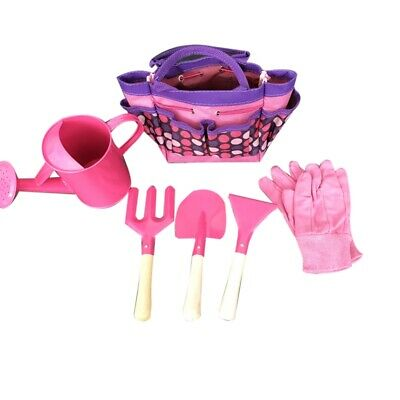 1X(6Pc Kids Garden Tools Set Outdoor Toys For Children
