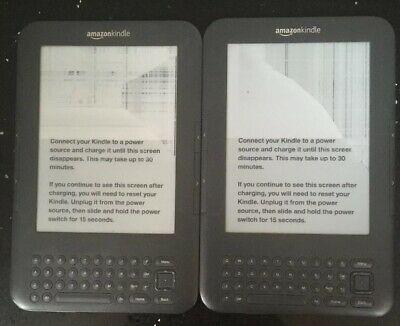 2xAmazon Kindle Keyboard (3rd Generation) D Broken