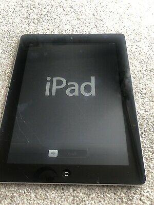 Apple iPad 2 9.7in 16GB Wi-Fi Tablet - Black - Cracked