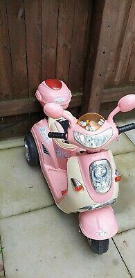 Kids Ride On Bike Toy Electric Girls Pink Motorbike Children