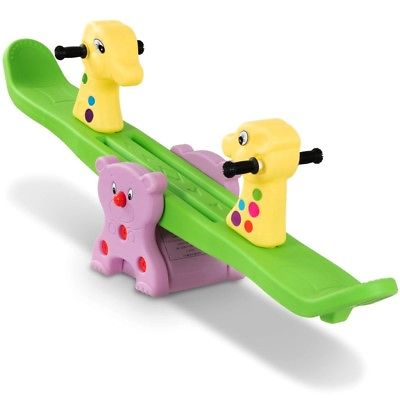 Kids Seesaw Garden Totter Teeter Outdoor Children Playground