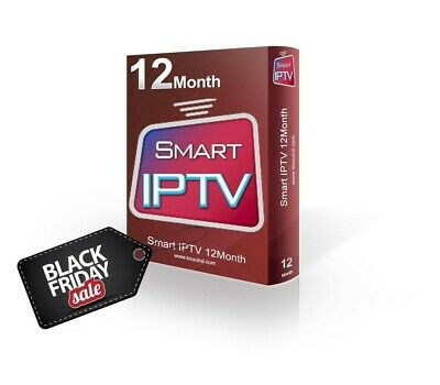 12 MONTH IPTV SUBSCRIPTION + CHANNELS / VOD / WORLDWIDE