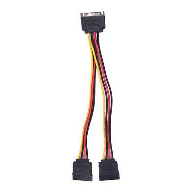 15 Pin Sata Male to 2 Sata Female Power Splitter Y Cable