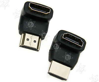 2pcs HDMI Male to Female Adapter Connector ° VO