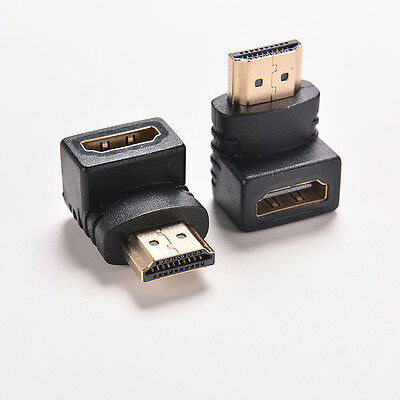 2x  Degree Right Angle Angled HDMI Male to Female
