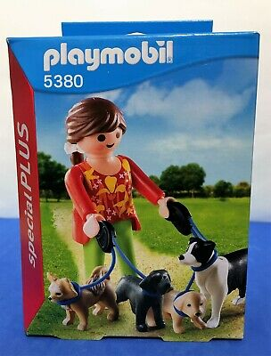 BRAND NEW Playmobil  Dog Walker with 4 Dogs