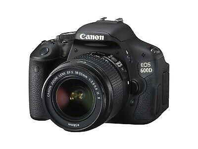Canon EOS 600D 18.0MP Digital SLR Camera - Black (Kit w/
