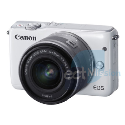 Canon EOS M10 w/ EF-M mm lens White NEW