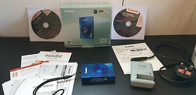 Canon IXUS 500 HS 10.1MP Digital Camera - Metalic Blue Great