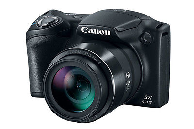 Canon PowerShot SX410 IS 20.0MP Digital Camera - Black