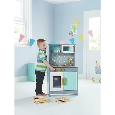 Modern Deluxe Wooden Kitchen Play Set Kids Children Cooking