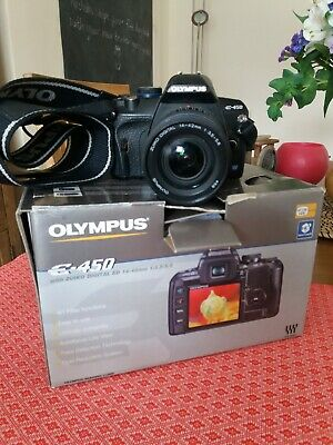 Olympus E-450 Digital Camera - Black.Used but in very good