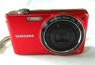 SAMSUNG PL201 DIGITAL CAMERA 14.2 MP 7X OPTICAL ZOOM Red,