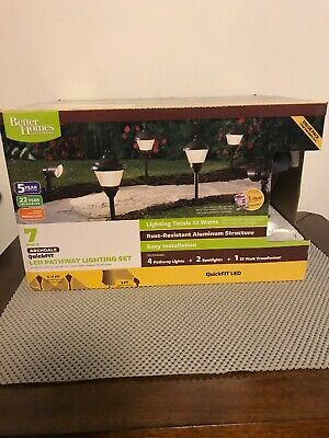 Better Homes And Gardens 7 Piece LED Pathway Lighting Kit