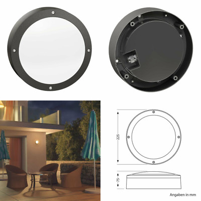 Parlat LED Wall Light Vela For Outdoor, Round, Black, IP65,