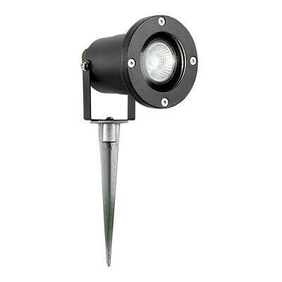 Searchlight BK Outdoor Garden 1 Light Spike Light IP44 -