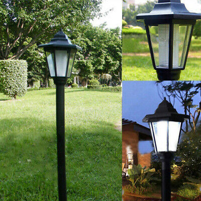 Solar Power LED Garden Fence Outdoor Lamp Path Way Wall