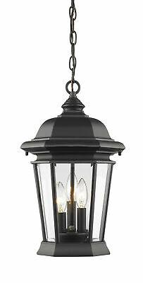 Z-Lite 540CHB Melbourne 3 Light Outdoor Pendant - Black