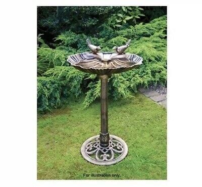 New Bronze Effect Double Bird Bath Garden Stand Weather
