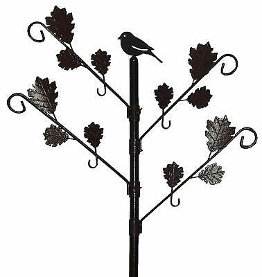 Wild Bird Feeding Garden Station with Leaves For Hanging