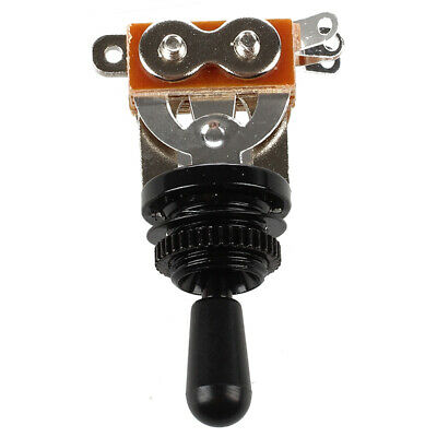 2X(Black Tip 3 Way Toggle Switch Pickup Selector for