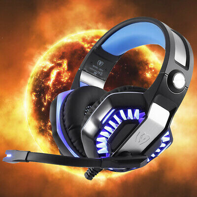 3.5mm LED Gaming Headset Headphones Mic for PC Laptop PS4
