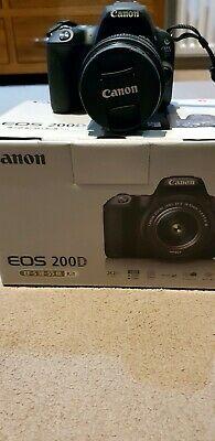 Canon EOS 200D 24.2MP Digital SLR Camera - Black (Kit w/