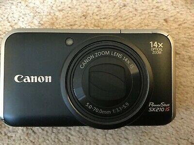 Canon PowerShot SX210 IS 14.1MP Digital Camera - Black