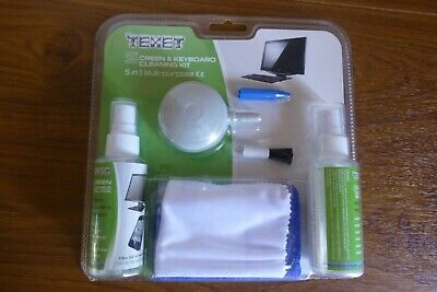 Texet Screen & Keyboard 5 in 1 Cleaning Kit for PC New in